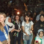 international friends soliderate with shatila people