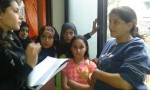 children interviewing the parents about viilence